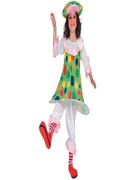 disfraz de payasa topos niña varias tallas. Este comodísimo traje es perfecto para carnavales, espectáculos, cumpleaños.Este disfraz es ideal para tus fiestas temáticas de disfraces de payasos del circo,bufones y arlequines para niñas.