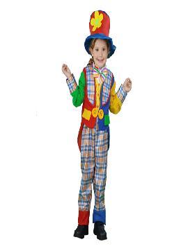 disfraz de payaso con abrigo niños.Este comodísimo traje es perfecto para carnavales.Este disfraz es ideal para tus fiestas temáticas de disfraces de payasos del circo,bufones y arlequines para niños infantiles.