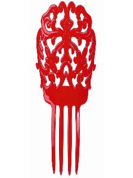 peineta de andaluza roja 18cm