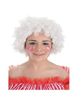 peluca afro blanca barata