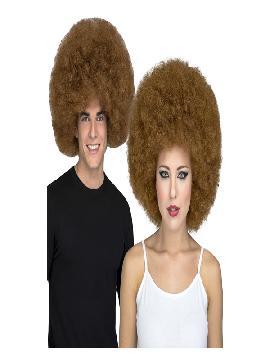 peluca afro marron extra grande