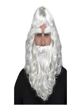 peluca barba y cejas papa noel adulto