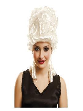 peluca blanca de emperatriz antonieta