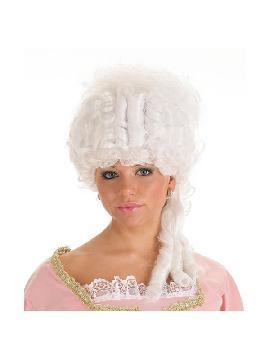 peluca blanca de epoca maria antonieta
