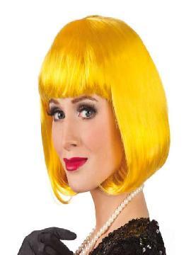 peluca de cabaret amarilla