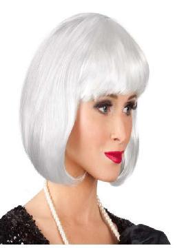peluca cabaret blanca corta