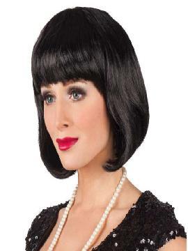 peluca cabaret corta negra señora