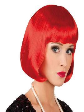 peluca de cabaret roja