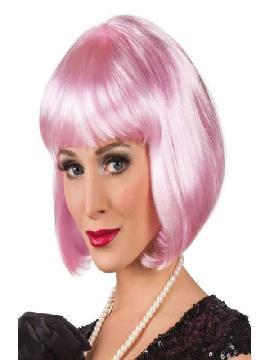 peluca de cabaret rosa