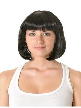 peluca charleston con flequillo puntas cerradas varios colores