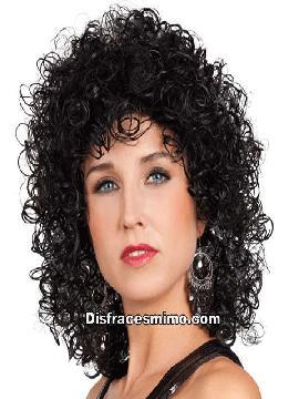peluca club negra señora