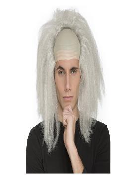 peluca con calva de genio chiflado