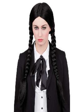 peluca con coletas niña siniestra