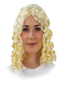peluca con tirabuzones para mujer clasica varios colores