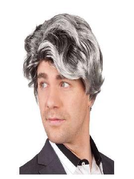 peluca corta bill gris y negro