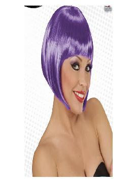 peluca corta chanel lila