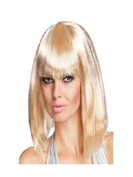 peluca corta con flequillo dance rubio