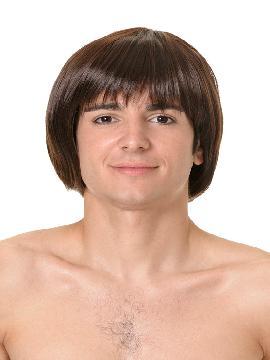 peluca corta de chico con flequillo varios colores