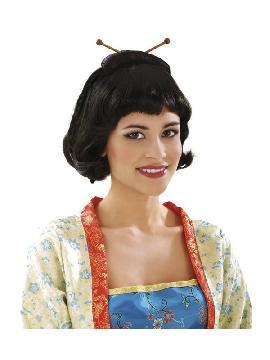 peluca corta de japonesa o geisha