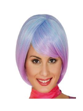 peluca corta melena lila