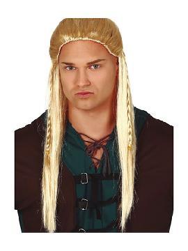 peluca de arquero larga rubia