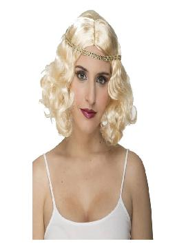 peluca de charleston rubia