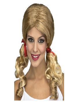 peluca de colegiala rubia