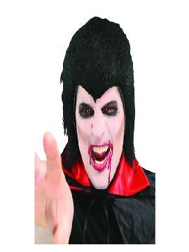 peluca de dracula negra adulto