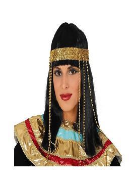 peluca de egipcia cleopatra con diadema