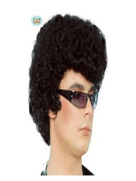 peluca de elvis rizada adulto