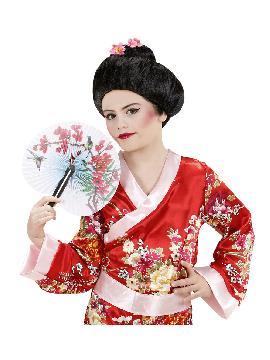 peluca de geisha tradicional mujer