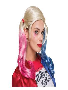peluca de harley quinn escuadro suicida mujer