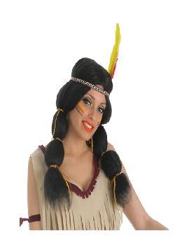 peluca de india con coletas