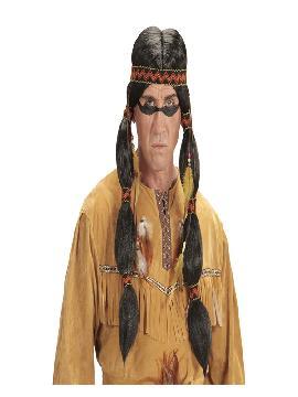peluca de indio apache para adulto