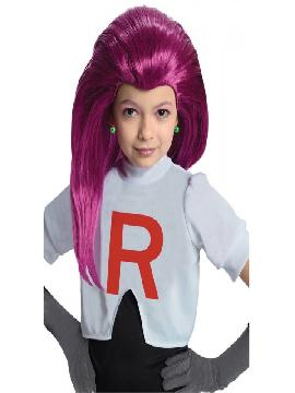peluca de jessie team rocket para niña