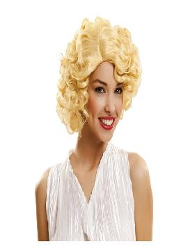 peluca de marilyn rizada rubia