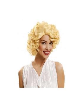 peluca de marilyn rubia adulto