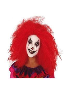peluca de payasa diabolica roja