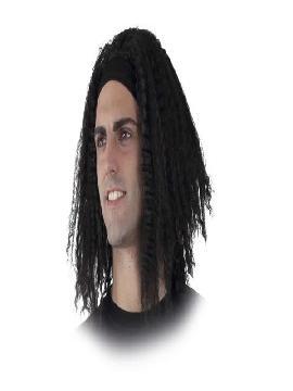 peluca de rastas negra con cinta