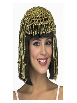 peluca de reina egipcia negra para mujer