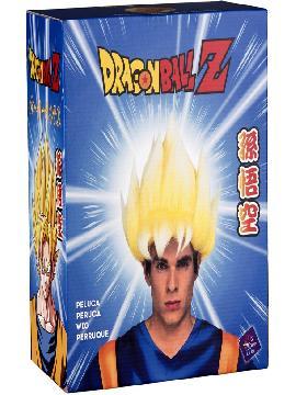 peluca de saiyan goku de dragon ball en caja hombre