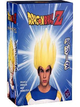 peluca de saiyan vegeta de dragon ball en caja hombre