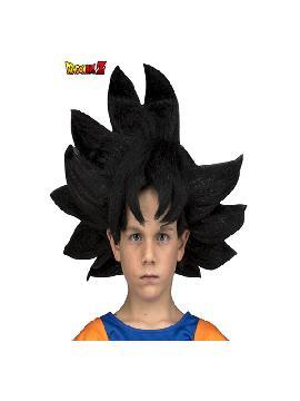 peluca de son goku de dragon ball en caja niño