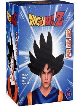 peluca de son goku de dragon ball en caja hombre