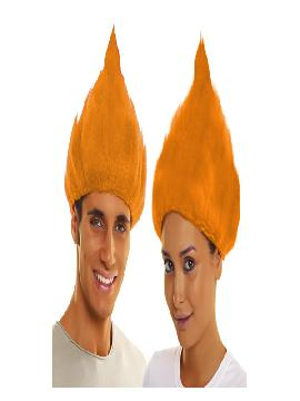 peluca de troll naranja