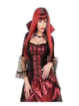 peluca de vampira chupasangre mujer