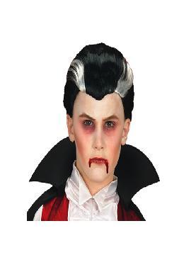 peluca de vampiro dracula infantil