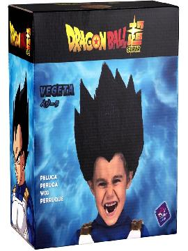 peluca de vegeta de dragon ball en caja niño