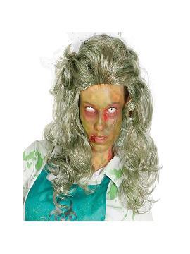 peluca de zombie rizada larga