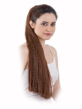 peluca extensiones coleta varios colores